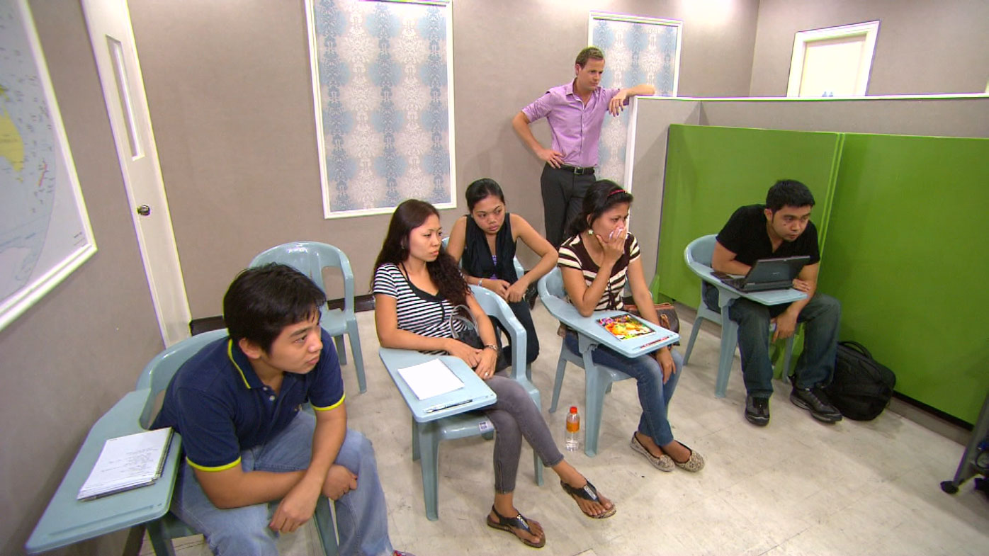 Many call centre employees in the Philippines earn just $2000 a year.
