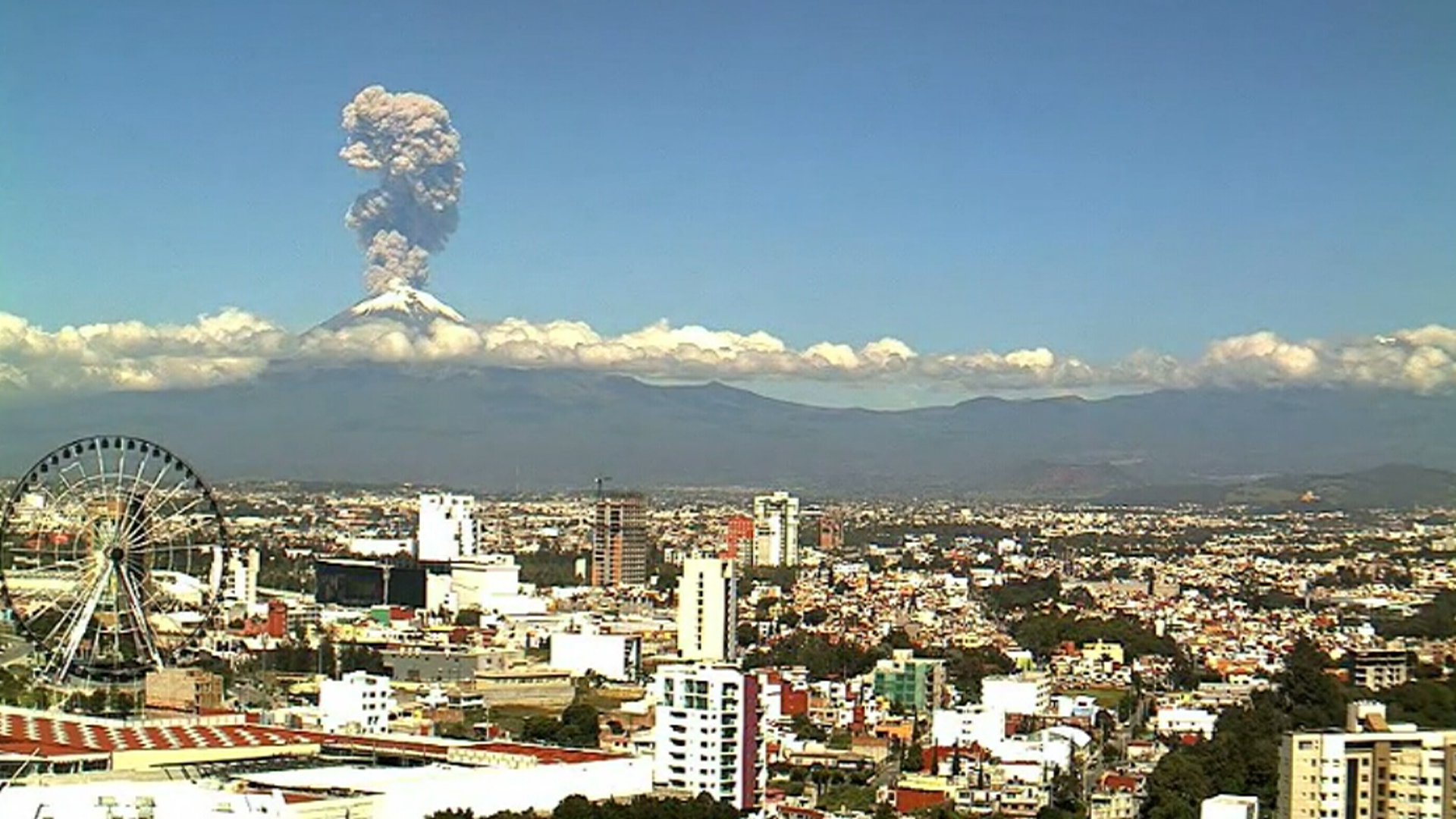 WATCH: Earth-shaking moment volcano erupts in Mexico