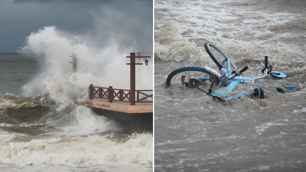 At least three dead as Typhoon Hato smashes China