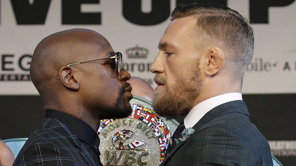 Floyd Mayweather and Conor McGregor. (AAP)
