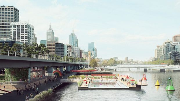 Soon you could be swimming lengths in the Yarra