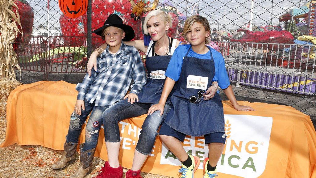 Gwen and her two eldest boys - Kingston, 11, and Zuma, nine. Image: Getty.