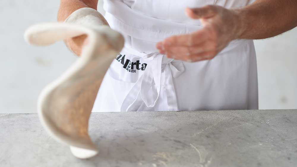 Stefano Manfrei's basic pizza dough, direct method - fresh yeast dough
