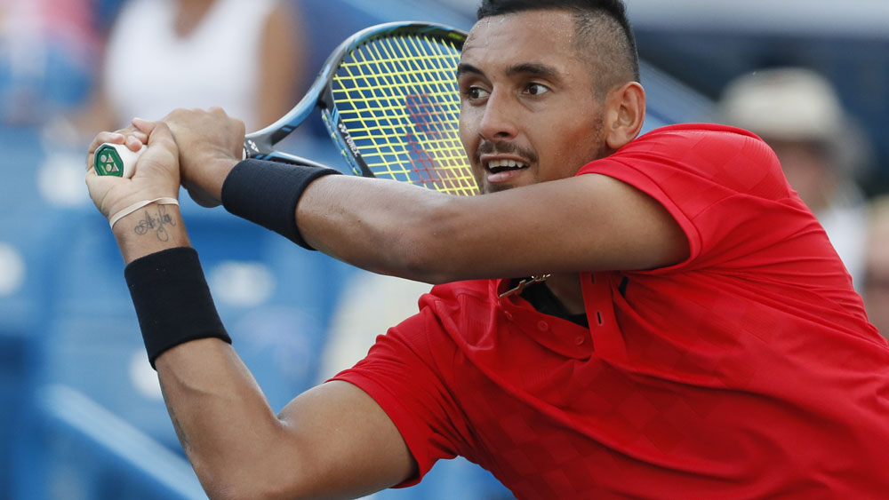 Nick Kyrgios will face a fellow Australian in the first round of the US Open. (AAP)