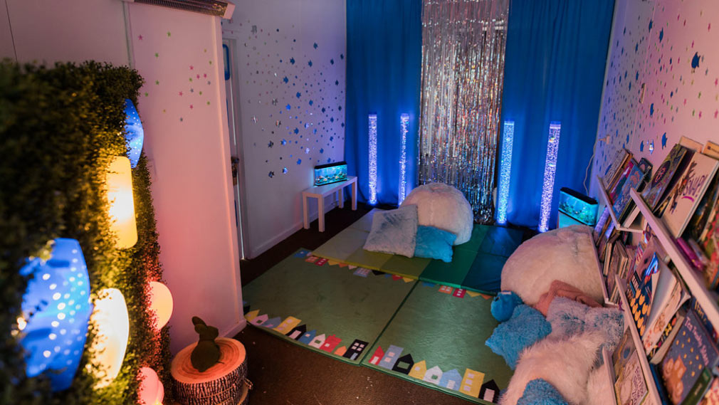 Children will be able to access a sensory room containing a fish tank and led-lit equipment.(Claire Elise Photography)