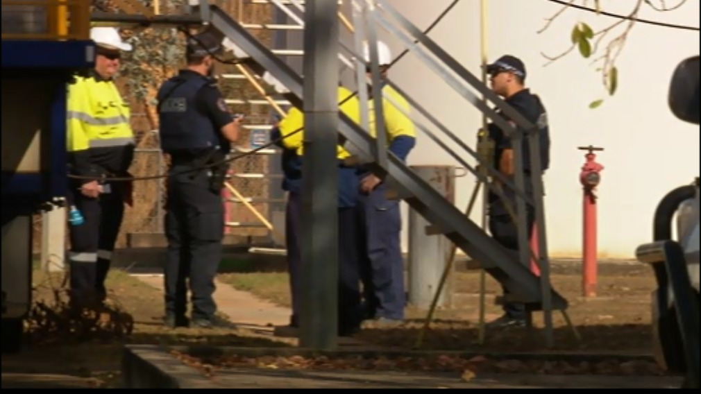 One worker was injured at the electrical substation. (9NEWS)