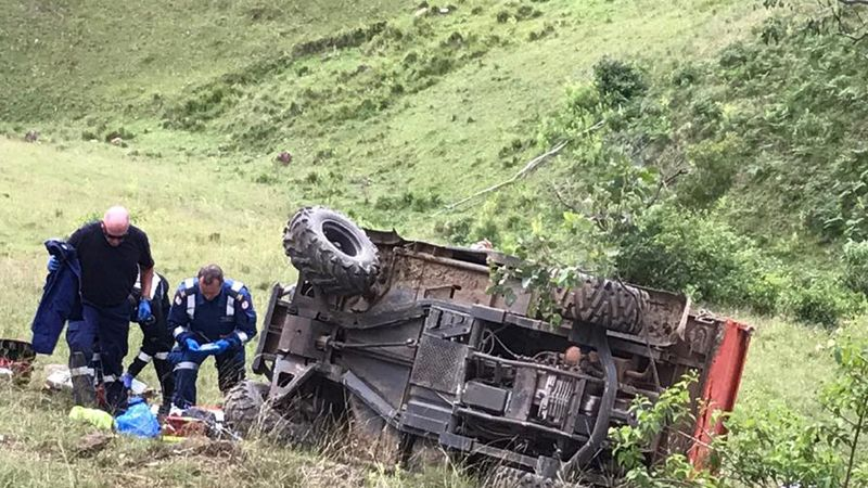 Natlie Ritter lost control of her RTVwhile on their family property in Bundook in May. (Westpac Rescue Helicopter)