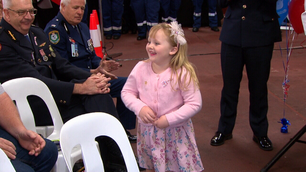 Georgia Ritter was all smiles when she walked onstage to accept her award. (9NEWS)