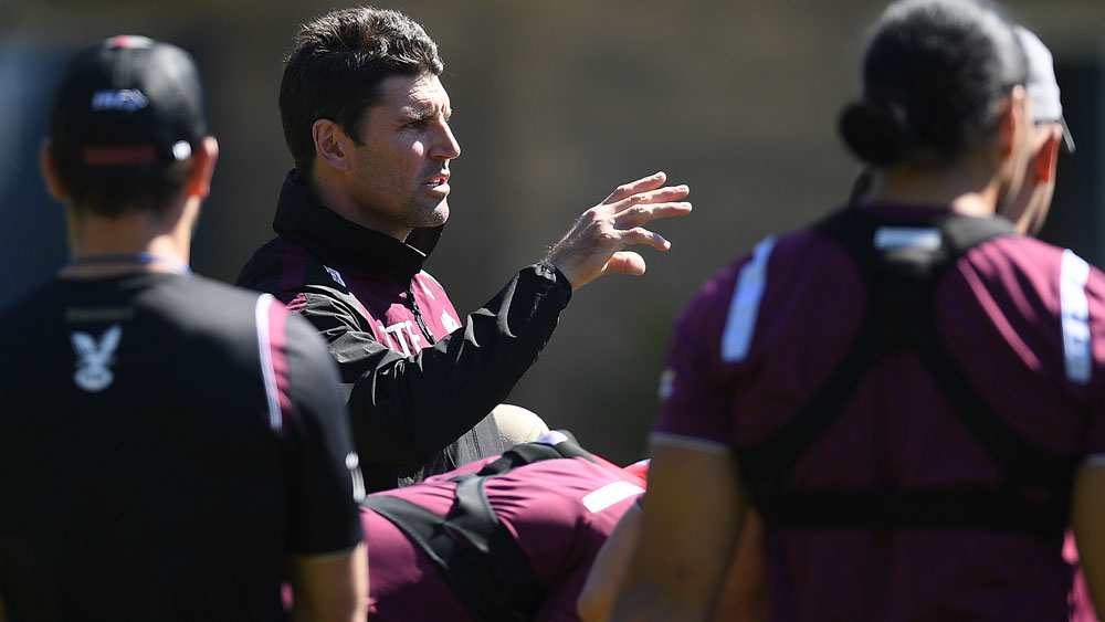Trent Barrett and Manly are aware of the task they are facing. (AAP)
