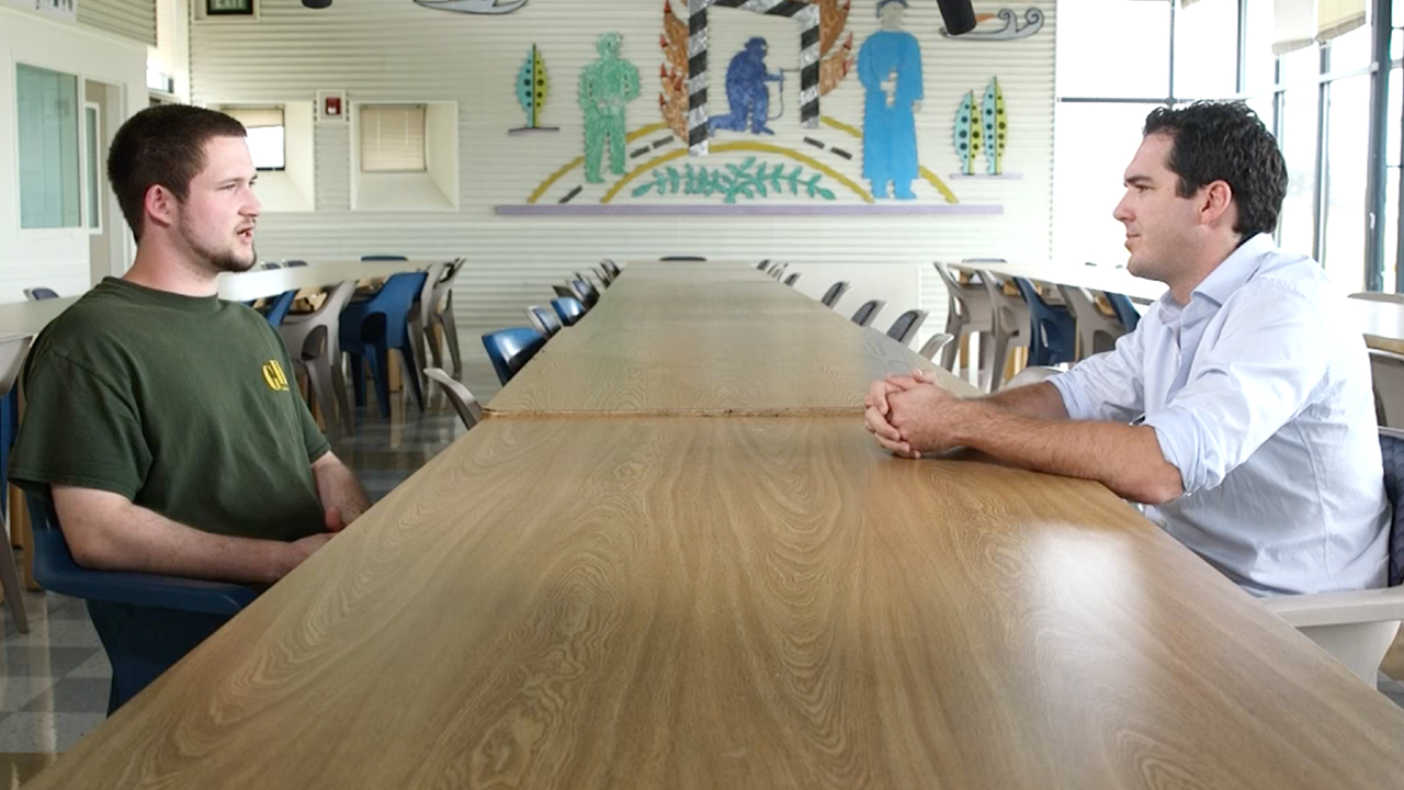 Peter Stefanovic visits Nathon Brooks in Green Hill juvenile detention centre. (60 Minutes)