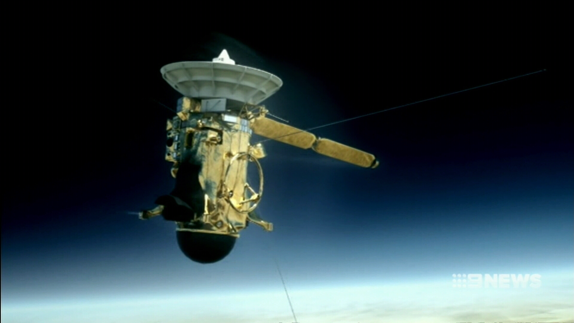 The Cassini spacecraft has one final, fiery mission. (9NEWS)