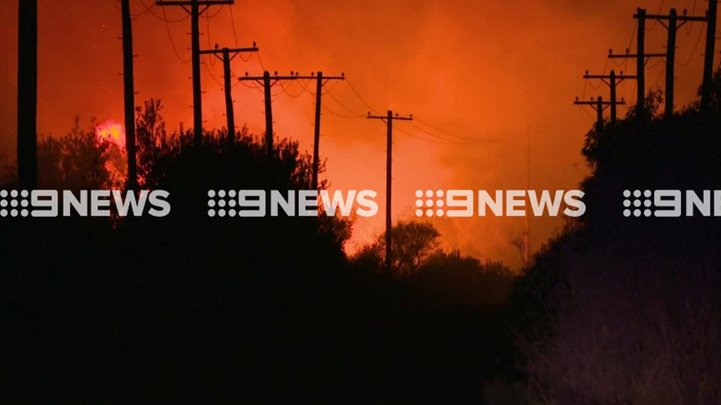 Firefighters say no home are under threat. (9NEWS)