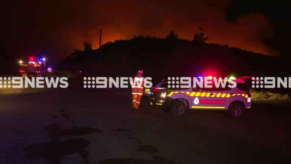 Authorities have put the fire at 'advice' level. (9NEWS)