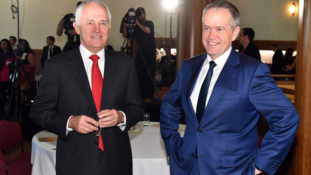 Malcolm Turnbull's popularity is edging higher in the polls but most Australians are in favour of Labor. (AAP)