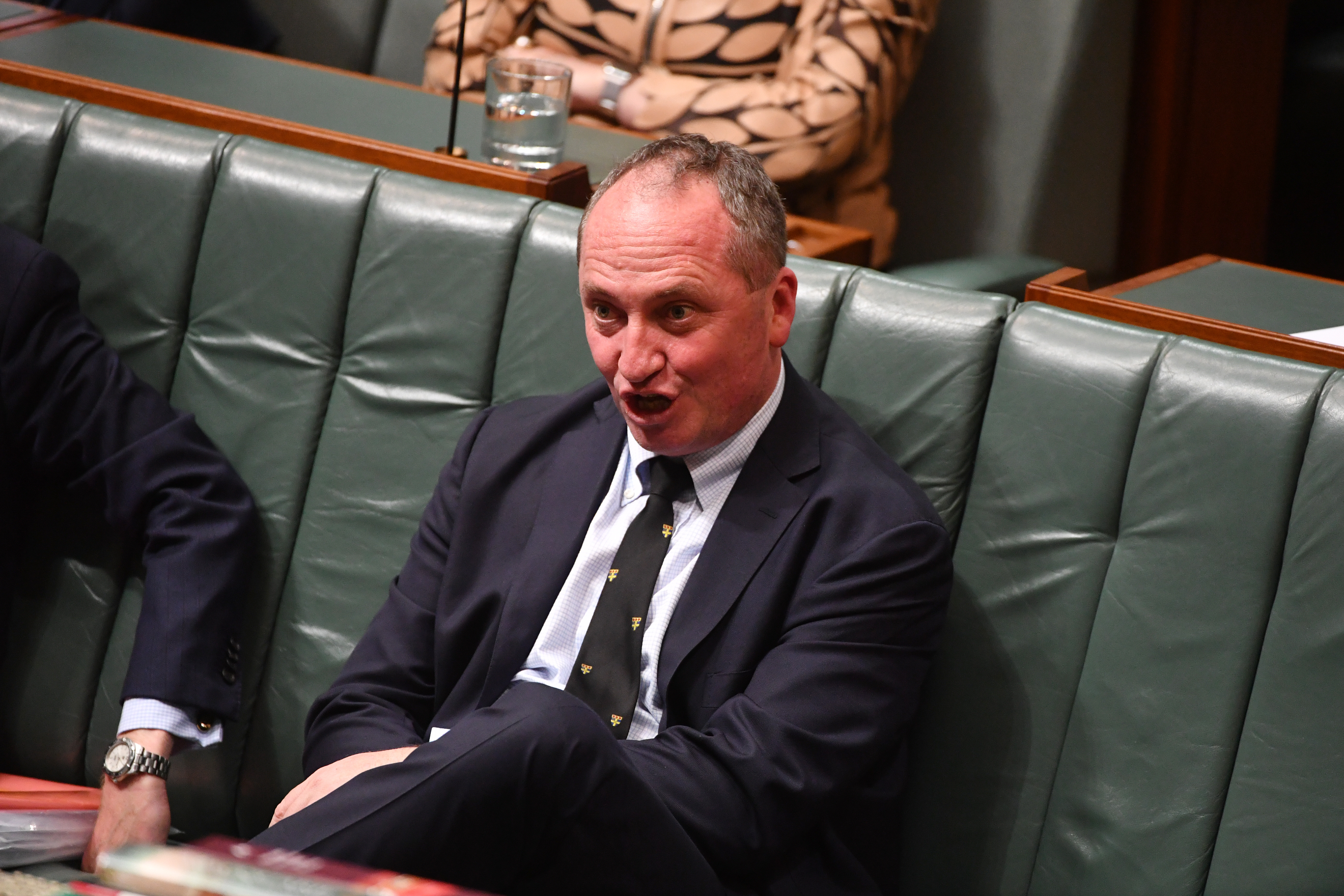 Nationals leader Barnaby Joyce is preparing to take the prime minister's chair in Malcolm Turnbull's absence next week. (AAP)