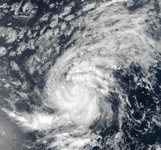 A NASA polar satellite took this image of the centre of Hurricane Irma in the Atlantic Ocean. (Photo: AP).