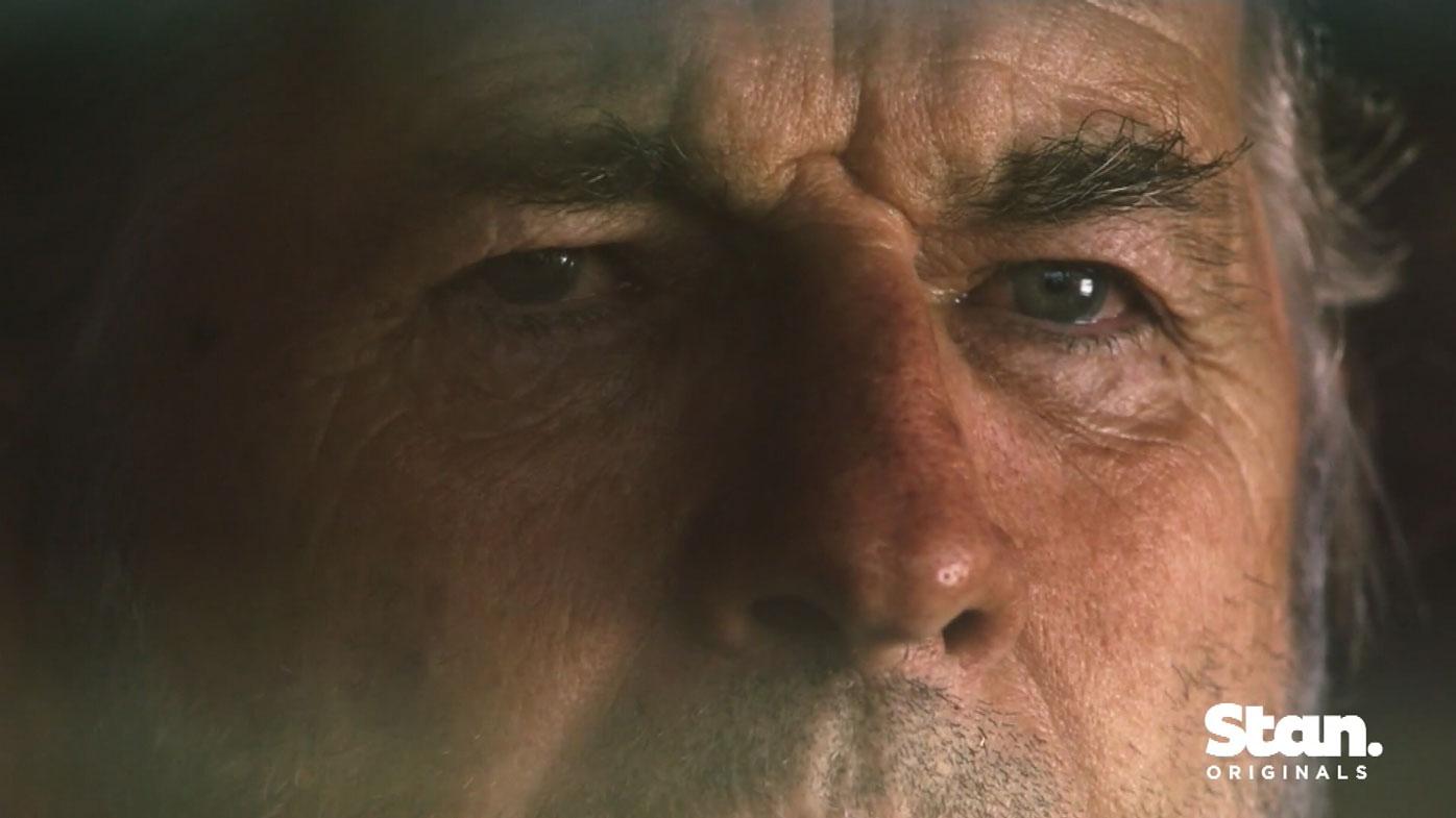John Jarratt as the serial killer Mick Taylor in Wolf Creek.