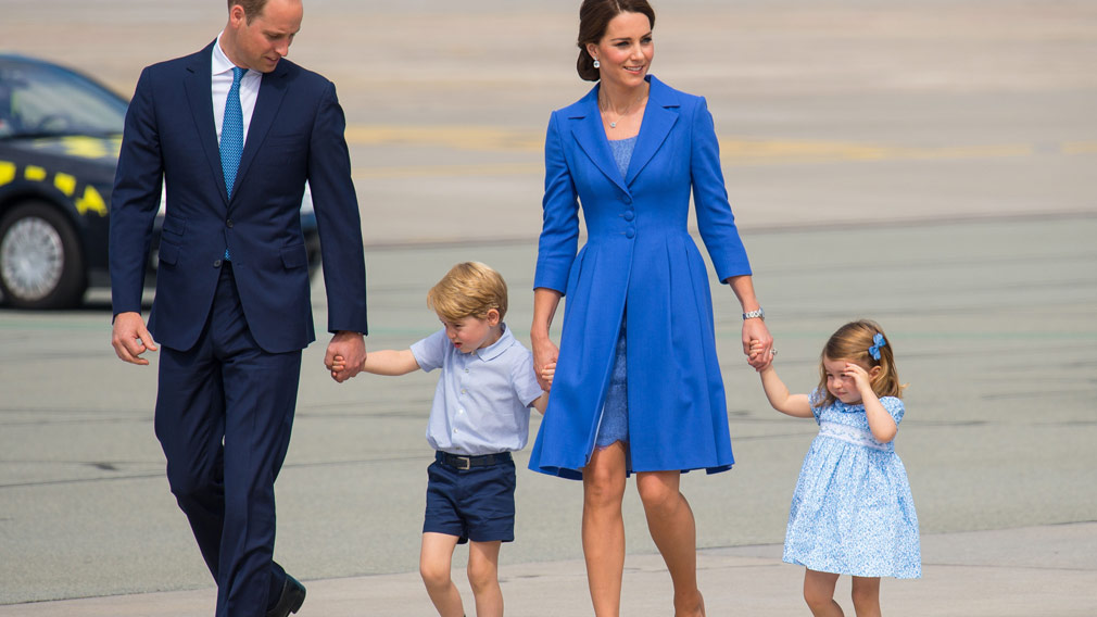The Duke and Duchess of Cambridge and their two children George and Charlotte. (AAP)