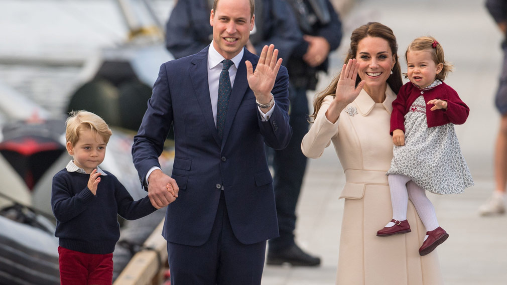 The young royal family is very popular with the public. (AAP)