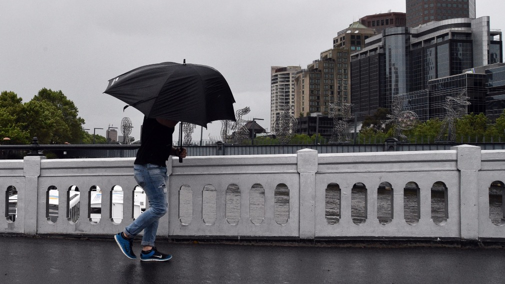 Another day of gusty winds, cool temperatures and potential showers is in store for Melbourne. (AAP)