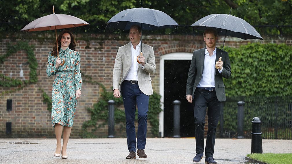 Kate attended a memorial for Princess Diana last week, before anyone was aware she is pregnant. (AAP)