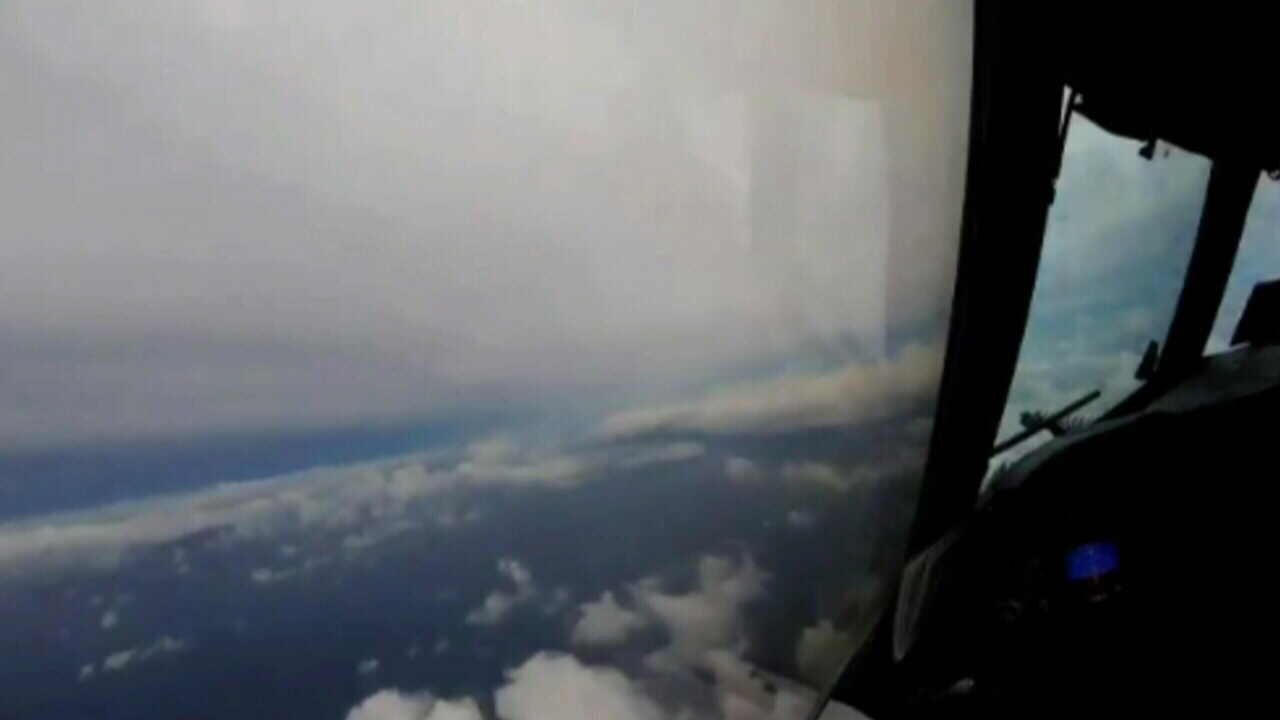 Hurricane Hunter gets close to the action. (NOAA)
