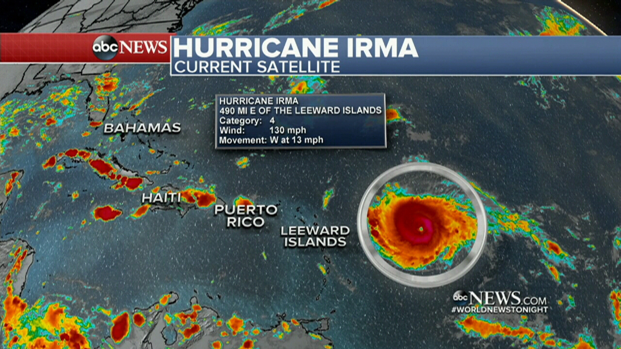 Irma is making its way to the US mainland. (ABC America)