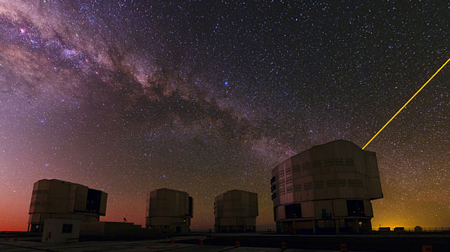 A powerful telescope in the Chilean desert helped discover the new black hole. (Photo: AFP).