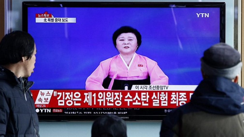 People in North Korea know when the 'pink lady' presents the news that there is something big to report.