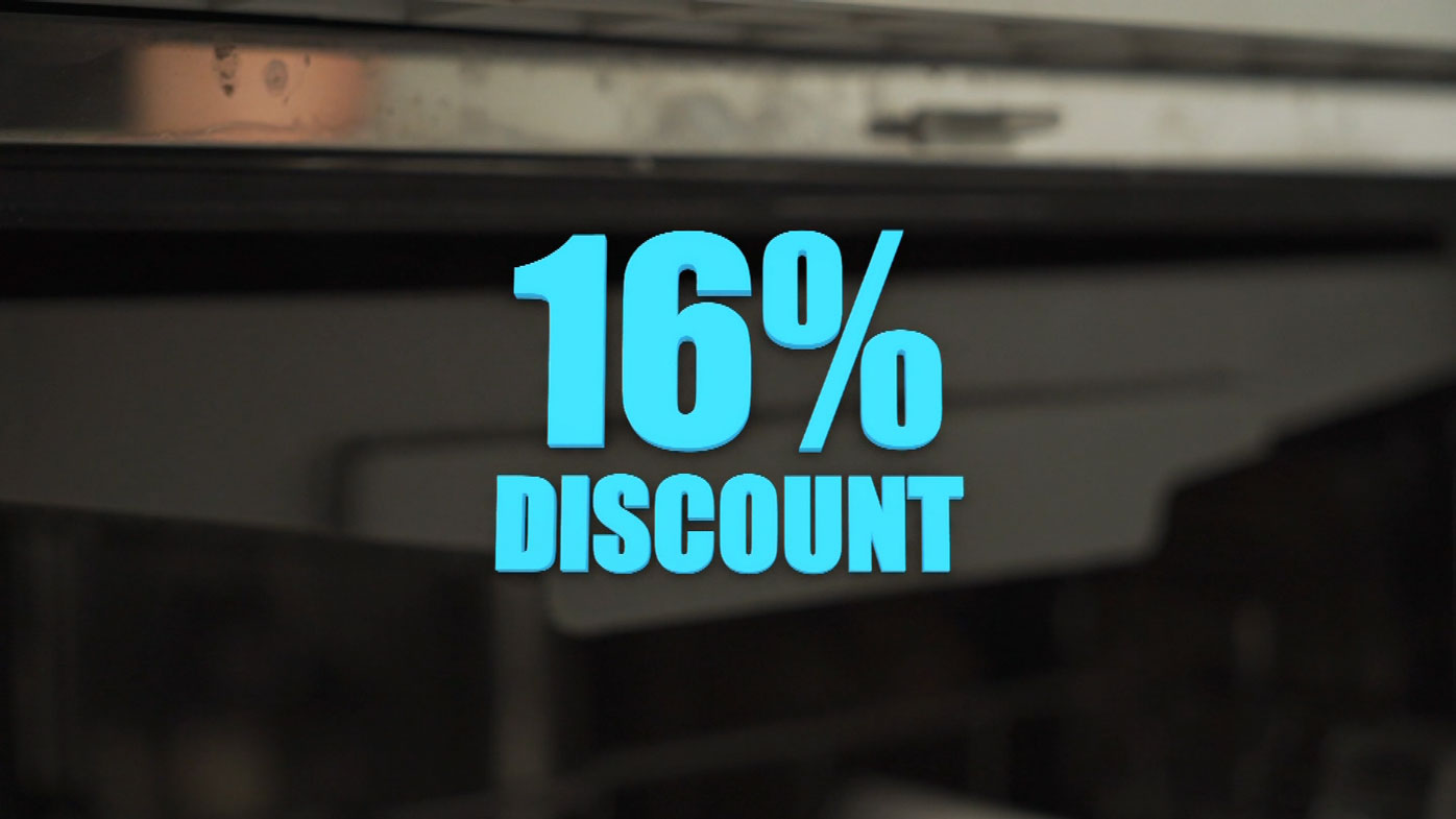 A Current Affair's reporters received a 16 percent discount on electricity.