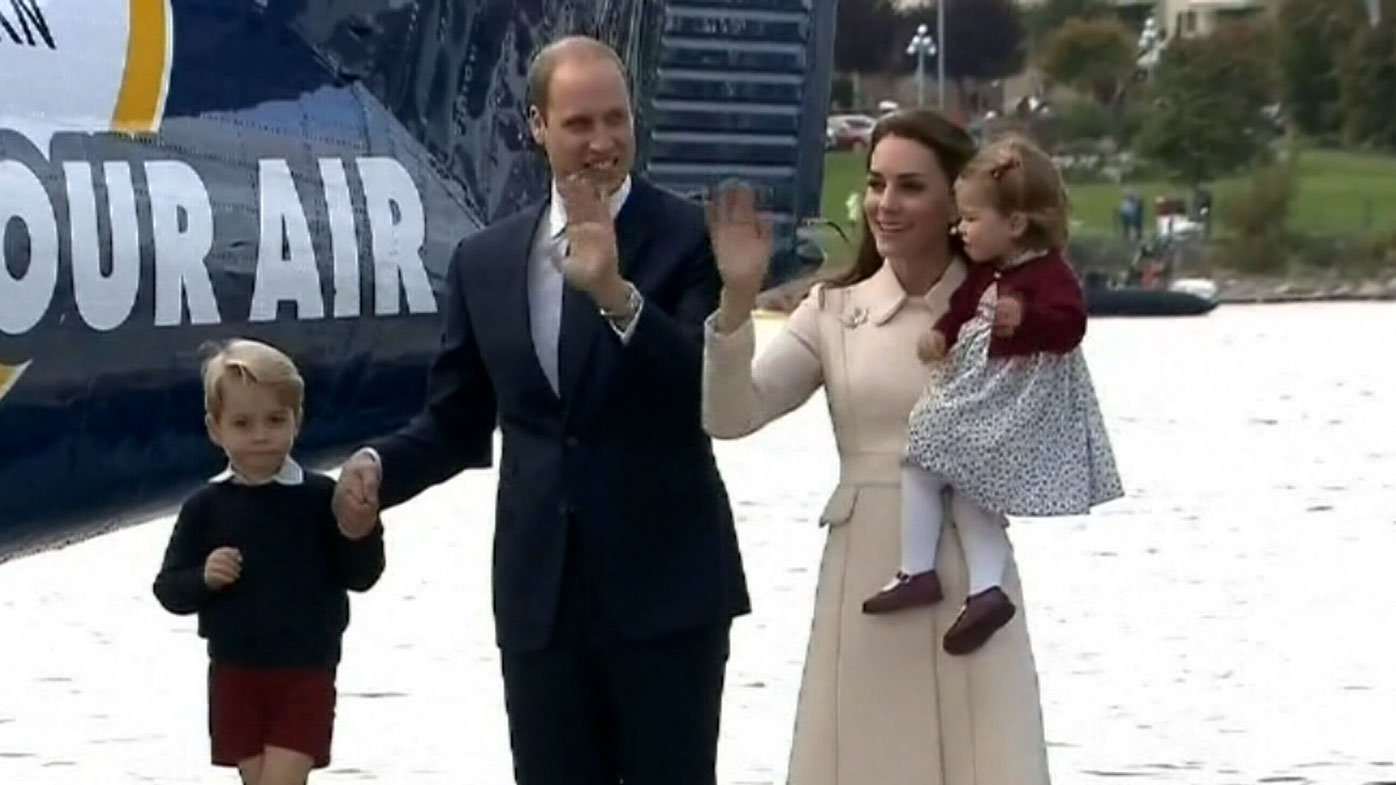 The Duke and Duchess of Cambridge with their two children.