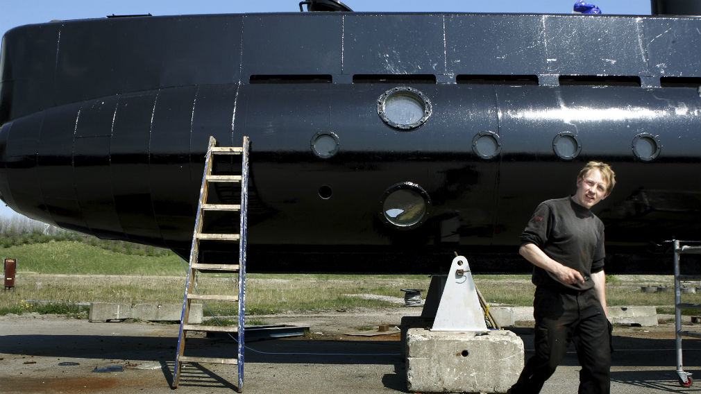 This 2008 file photo, shows submarine and its owner Peter Madsen. (AAP)