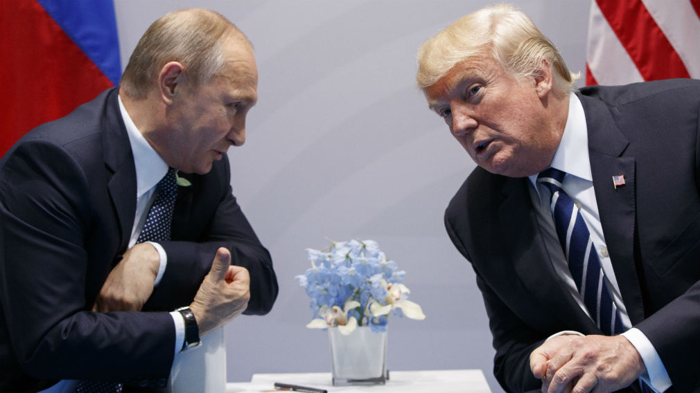 President Donald Trump meets with Russian President Vladimir Putin at the G20 Summit in July