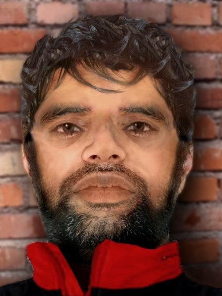 A digital image of the man's face. (Victoria Police)