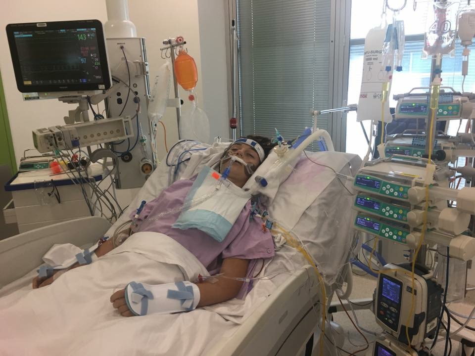 The teenager remains in Lady Cilento Children's Hospital. (GoFundMe)