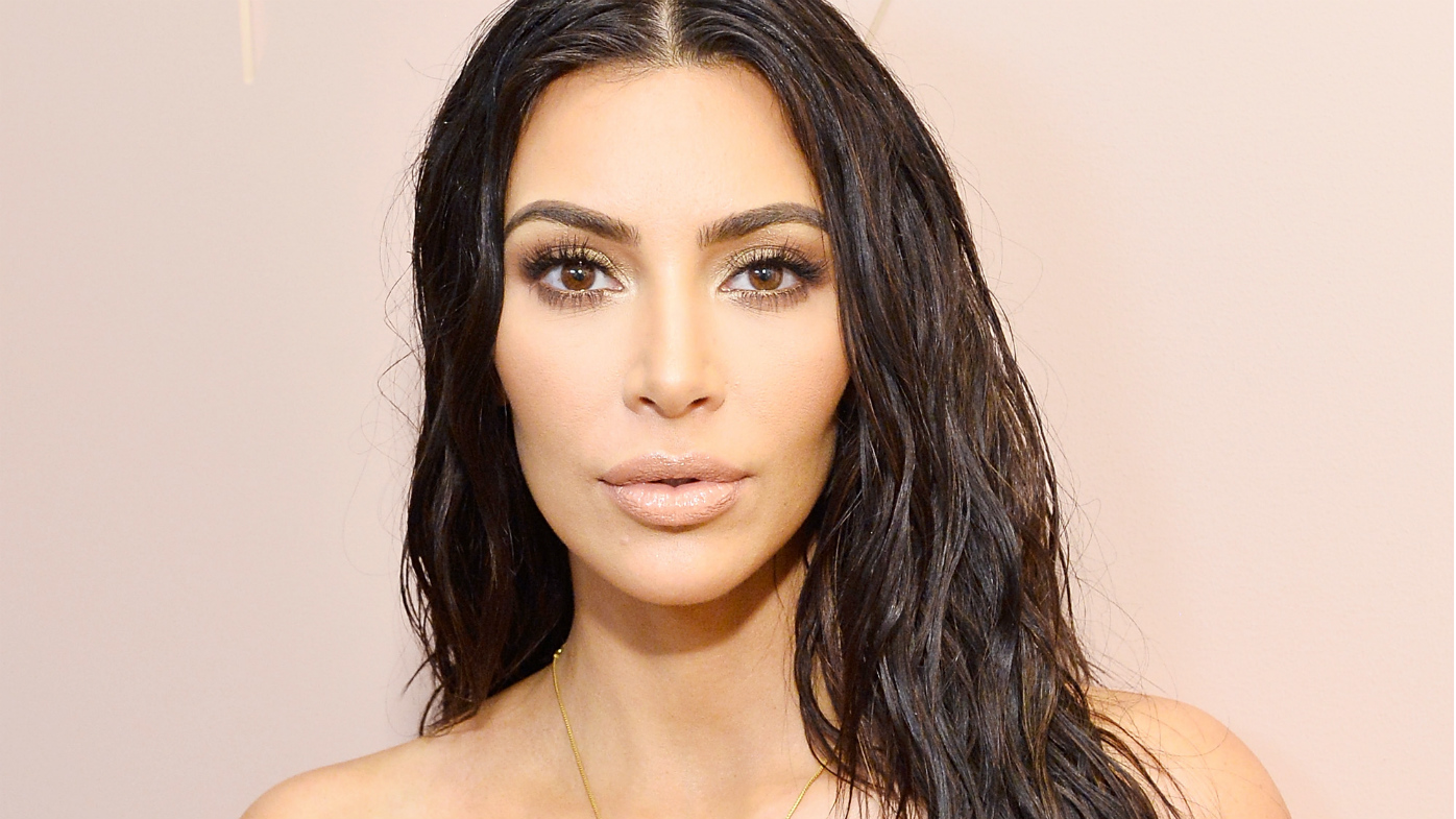 Kim Kardashian Gets Silver Blonde Hair Color for NYFW