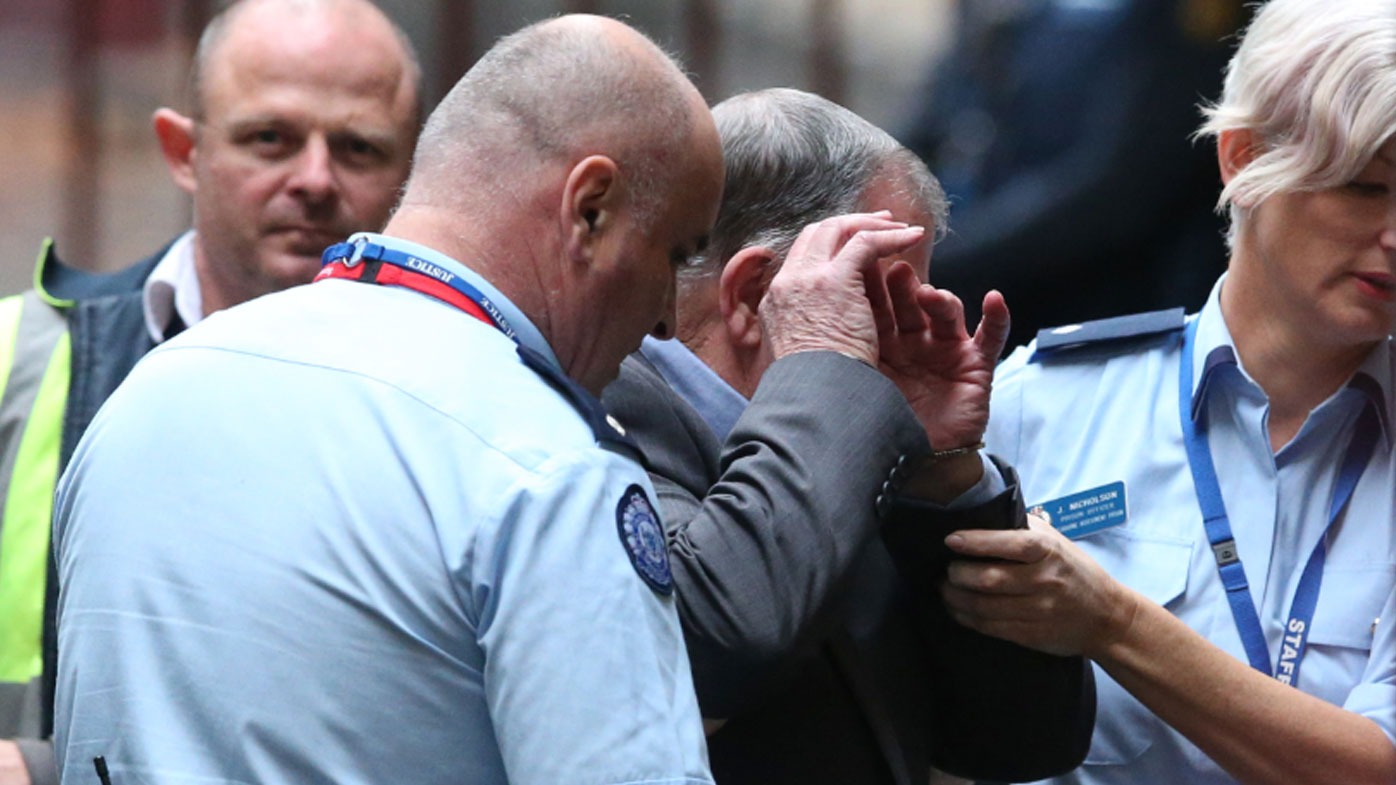 Gregory Keith Davies arrives in a prison van at the Melbourne Supreme Court. (AAP)