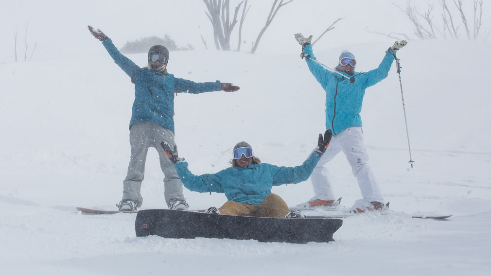 Making the most of the last days of the official ski season. (Thredbo)