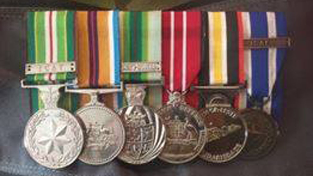 Jay Deeming's medals were stolen in the robbery. (Supplied)