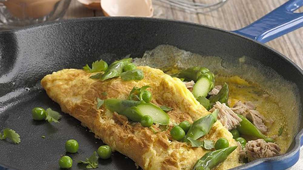 "Recipe: <a href=""http://kitchen.nine.com.au/2016/05/05/13/54/asparagus-pea-and-tuna-omelette"" target=""_top"">Asparagus, pea and tuna omelette</a>"