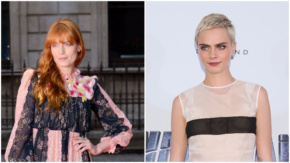 Florence Welch (L) and Cara Delevingne attended the school. (AAP)
