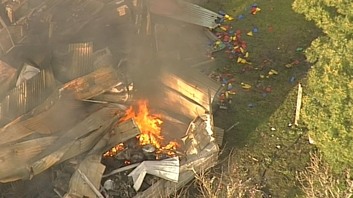 The blaze took around five hours to control. (9NEWS)