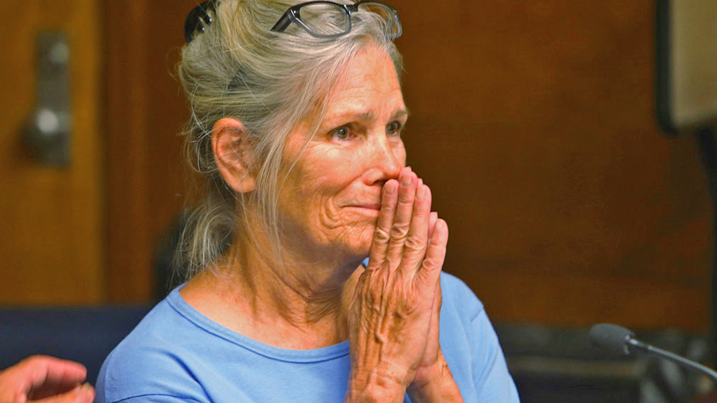 Leslie Van Houten reacts after hearing she is eligible for parole. (Photo: AP)