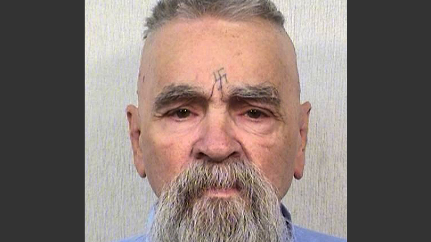 This photo showing Charles Manson in prison was taken in 2014.