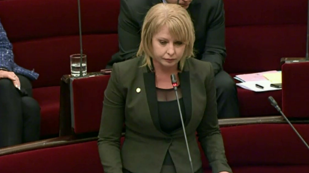 Ms Carling-Jenkins made the shocking announcement in parliament this morning. (Supplied)