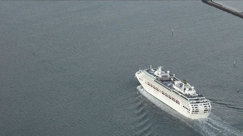 The Sun Princess has suffered at least three gastro outbreaks this year as well. (9NEWS)