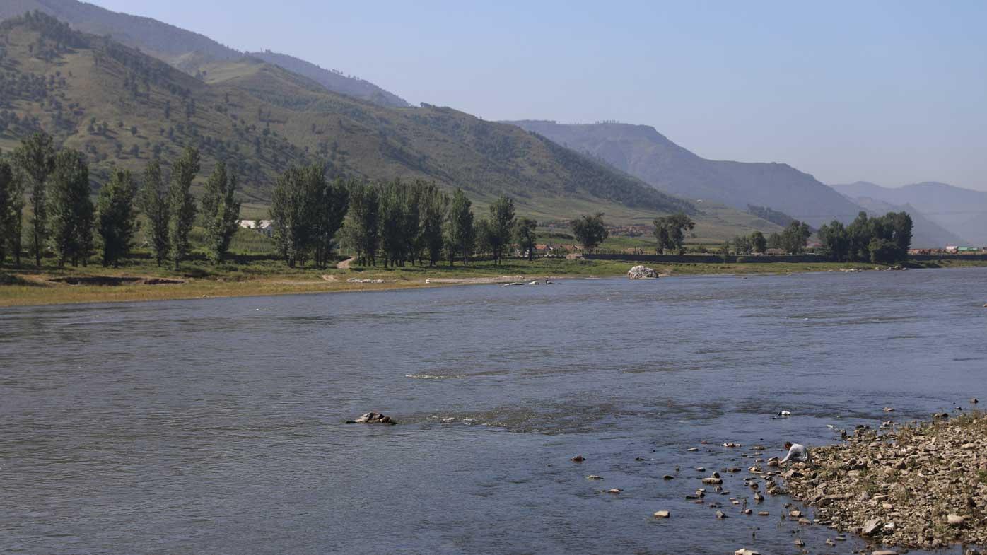 The Yalu River marking the border between North Korea and China. (AAP)