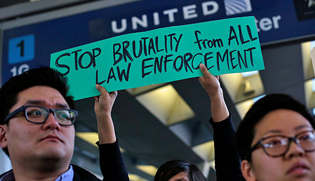 Protests erupted against United Airlines after David Dao's rough treatment. (Photo: AFP).