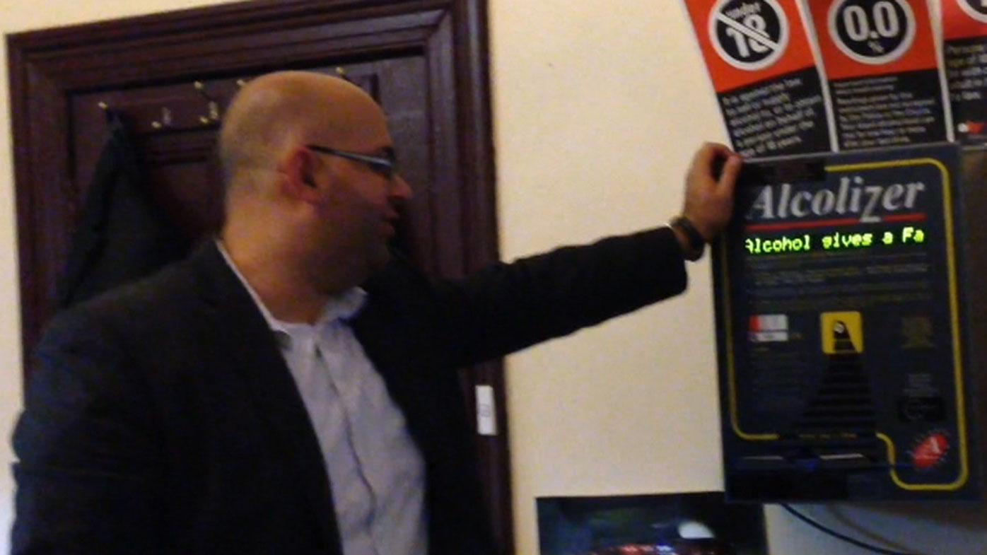 Khal Asfour failed a pub breathalyser test in Broken Hill.