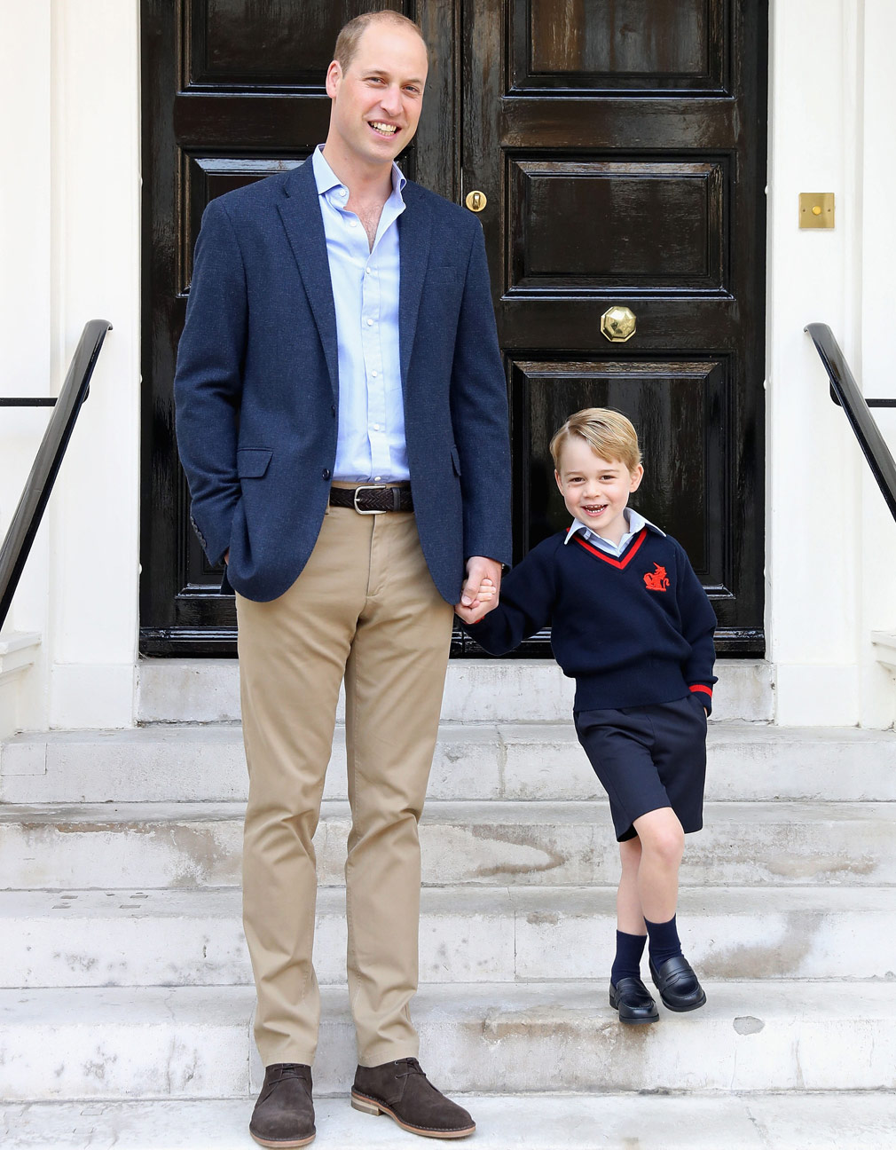 Prince William said George's first day 'went well'. (AAP)
